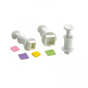 Plunger Cutter Square Shape Set of 3 Pieces